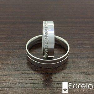 Par de alianças em prata 950 Ref 224001