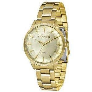 Relógio Lince Feminino Analógico Dourado LRG4563LC1KX