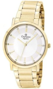 Relógio Champion Feminino Analógico Dourado CN25627H