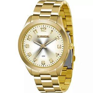 Relógio Lince Feminino Analógico Dourado LRG4342LC2KX