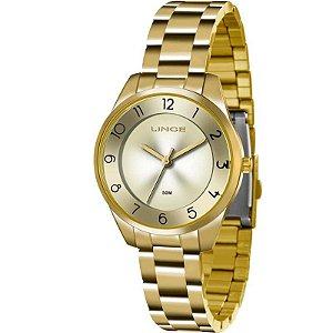 Relógio Lince Feminino Analógico Dourado LRG4376LC1KX