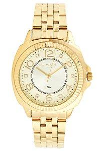 Relógio Lince Feminino Analógico Dourado LRGJ060LC2KX