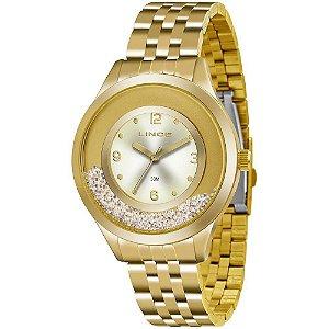 Relógio Lince Feminino Analógico Dourado LRG4348LC2KX