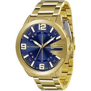 Relógio Lince Masculino Multifunção Dourado MRG4333SD2KX