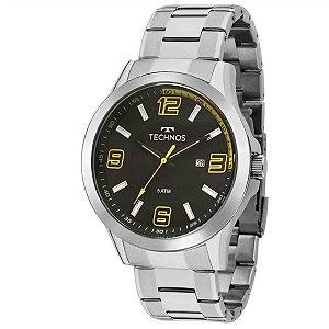 Relógio Technos Masculino Analógico Prata 2115KLM/1Y