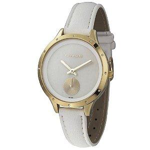 Relógio Lince Feminino Analógico Branco LRC4529LB1BX