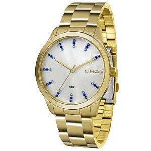 Relógio Lince Feminino Analógico Dourado LRG4445LB1KX