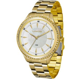 Relógio Lince Feminino Analógico Dourado Lrg4427lb1kx