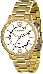 Relógio Lince Feminino Analógico Dourado LRG4308LB2KX