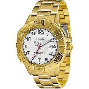 Relógio Lince Masculino Analógico Dourado MRG4334LB2KX