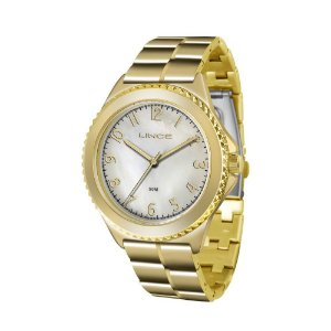Relógio Lince Feminino Analógico Dourado LRG4429LB2KX