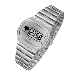 Relógio Lince Feminino Digital Prata SDM4480LBSSX