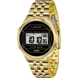 Relógio Lince Feminino Digital Dourado SDPH021LBXKX