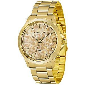 be990fe57aa Relógio Lince Feminino Analógico Dourado LRGJ072LC1KX