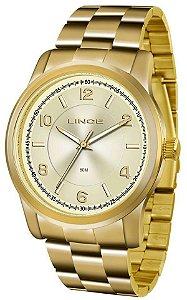 Relógio Lince Feminino Analógico Dourado LRGJ066LC2KX