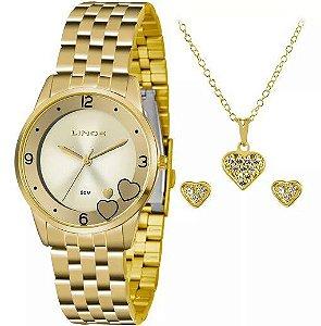Relógio Lince Feminino Analógico Dourado LRG4517LC2KX