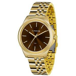 Relógio Lince Feminino Analógico Dourado LRG4428LM1KX