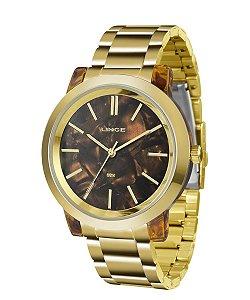 Relógio Lince Feminino Analógico Dourado LRT612PM1KX