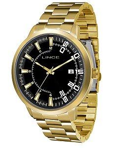 Relógio Lince Masculino Analógico Dourado MRG4353SP2KX