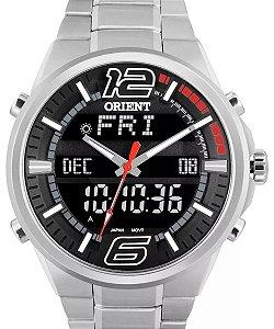 Relógio Orient Masculino Anadigi Aço MBSSA047PVSX