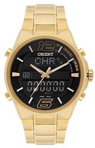 Relógio Orient Masculino Anadigi Dourado MGSSA001PYKX