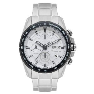 Relógio Orient Masculino Cronógrafo Aço MBSSC182S1SX