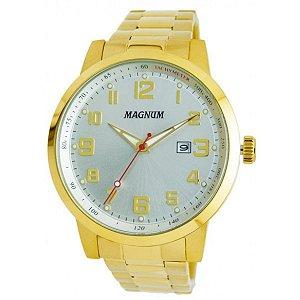 Relógio Magnum Masculino Analógico Dourado MA32925H