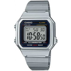 Relógio Casio Unissex Digital Vintage Prata B650WD1ADF