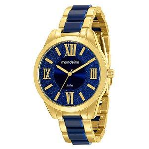 Relógio Mondaine Feminino Analógico Dourado 76682LPMVDE1