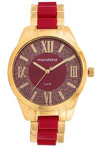 Relógio Mondaine Feminino Analógico Dourado 76682LPMVDE3