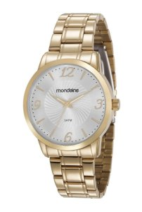 Relógio Mondaine Feminino Analógico Dourado 83368LPMVDE1