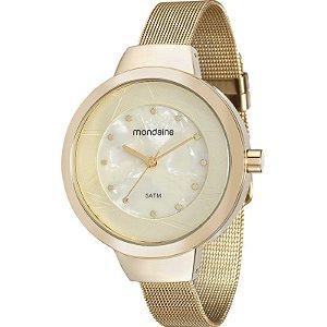 Relógio Mondaine Feminino Analógico Dourado 99052LPMVDE2