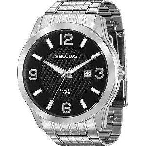 Relógio Seculus Masculino Analógico Prata 28837G0SVNA1