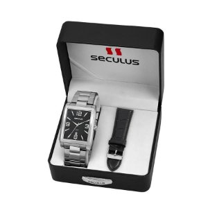 Relógio Seculus Masculino Analógico Troca Pulseira 23628G0SVNA1