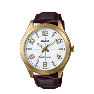 Relógio Casio Masculino Analógico Couro MTPVX01GL7BUDF