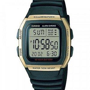 Relógio Casio Masculino Digital Preto W96H9AVDFU