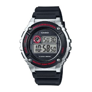 Relógio Casio Masculino Digital Preto W216H1CVDF