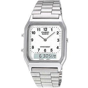 Relógio Casio Feminino Digital Prata AQ230A7BMQU
