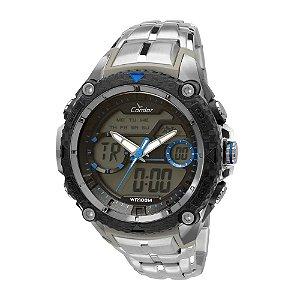 Relógio Condor Masculino AnaDigi Prata COAD1146AA/3A