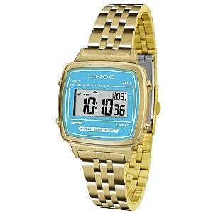 Relógio Lince Feminino Digital Dourado SDPH042LBAKX