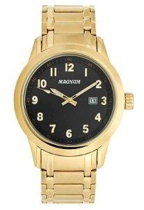 Relógio Magnum Masculino Analógico Dourado MA33282U