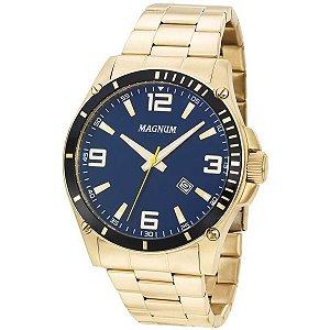 Relógio Magnum Masculino Analógico Dourado MA34638A