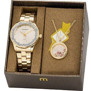 Relógio Mondaine Feminino Analógico Dourado 99249LPMVDE1K1