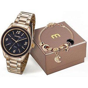 Relógio Mondaine Feminino Analógico Dourado 99277LPMKDE2K1