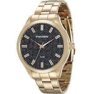 Relógio Mondaine Feminino Analógico Dourado 76614LPMVDE1