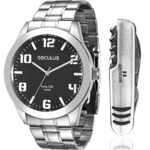 Relógio Seculus Masculino Analógico Prata 28819G0SVNA1K2