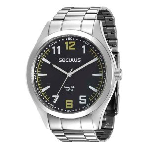 Relógio Seculus Masculino Analógico Prata 28865G0SVNA1