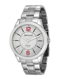 Relógio Seculus Masculino Analógico Prata 28922G0SVNA2