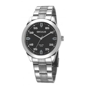 Relógio Seculus Masculino Analógico Prateado 28976G0SVNA1