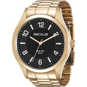 Relógio Seculus Masculino Analógico Dourado 28884GPSVDA2